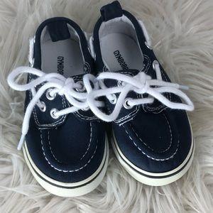 GYMBOREE Boat Shoes Blue Canvas Baby Boy Sz 5